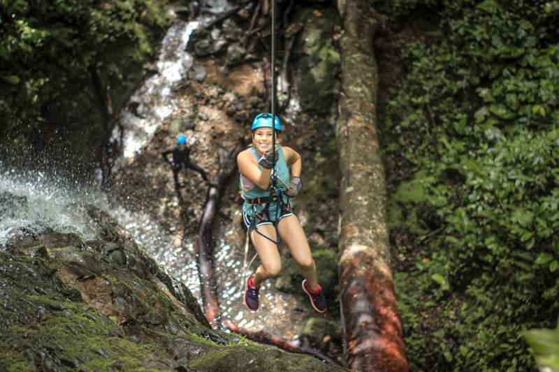 waterfall rappeling