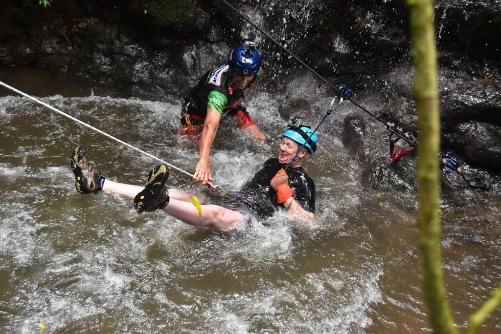 Waterfall Rappeling Costa Rica